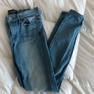 Express Light Wash Skinny Jeans